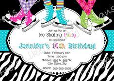 Custom Ice Skating Party Invite by FeelsLikeAParty on Etsy