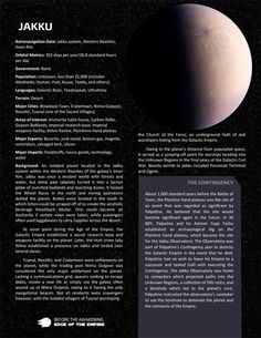 Planets, planets, and more planets - Page 8 - Star Wars: Edge of the Empire RPG - FFG Community Space And Astronomy, Astronomy Facts, Astronomy Pictures, Star Wars History, Star Wars Species, Edge Of The Empire, Star Wars Facts, Star Wars Rpg, Star Wars Images