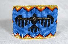 The Crow Councilor - Native American Style Beaded Cuff