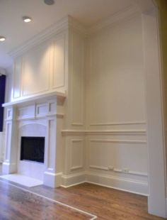 5 Eager Tips: Diy Wainscoting Nursery wainscoting styles interiors.Simple Wainscoting Entry Ways wainscoting entryway interiors. Picture Frame Wainscoting, Transitional Living Rooms, Wainscoting Nursery, Wainscoting Bedroom, Moldings And Trim, Fireplace Mantels, Dining Room Wainscoting, Fireplace, Wainscoting Styles