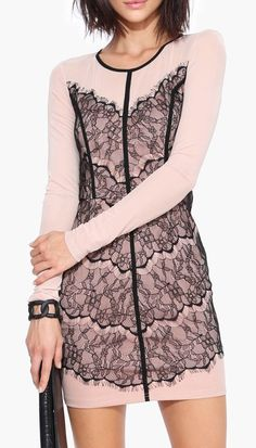 Lovers And Lace Dress in Beige