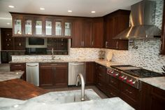 KITCHEN – 20 Year Old NJ Home Gets A New Gourmet Kitchen