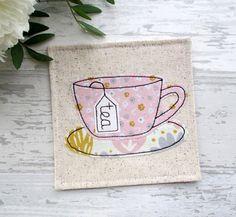 Coaster Tea Coaster Fabric Coaster Tea Lover Gift Drink #coaster #handmade #etsy #giftideas