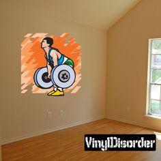 Weight Lifting Wall Decal - Vinyl Sticker - Car Sticker - Die Cut Sticker - SMcolor005