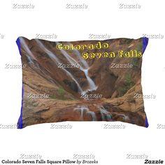 Colorado Seven Falls Square Pillow