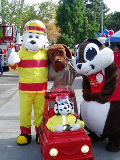 sparky the fire dog. sparky at national night out in santa rosa, ca the fire dog
