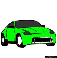 nissan 370z coloring page