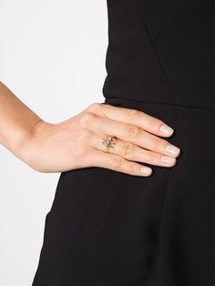 three stick tourmaline diamond ring