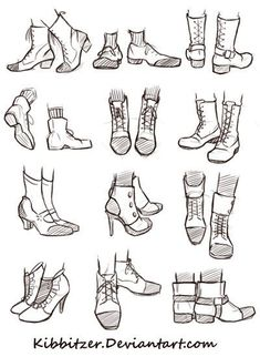 Shoes Reference Sheet by Kibbitzer.deviantart.com on @DeviantArt: