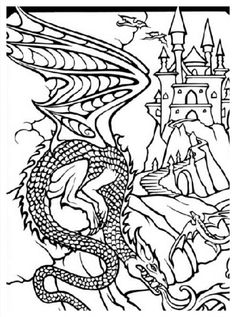 Chinese Dragon Coloring Page Chinese New Year Asian