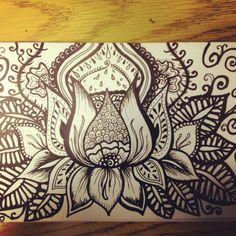 lotus flower drawing- tattoo?                                                                                                                                                     More