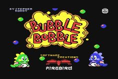 This is the game that taught me life's important lessons.  Mainly: if you trap bad guys in bubbles, lots of food will rain down on you.