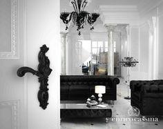 #handles #Rococòpop #door #whichcolor #Andy #Warhol #design #interior #living #trends #barocco #italian #Baroque #white #bianco #black #nero #lovedesign #home