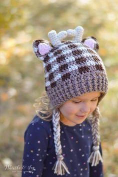 4f89aab3653f3 Plaid Crochet Woodland Animal Hats - Free Crochet Pattern
