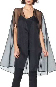 Our chic organza overlay is a wardrobe must-have. Layer over your evening gown ensemble or silk cami and tailored pants look that is at once well dressed and...