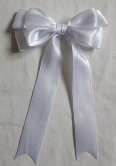 "5 or 10 Large 10cm 4/"" Double Handmade Satin Bow In Red Packs of 2"