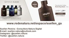 Esta semana, todo dia uma fragrância diferente de Kaiak com um super desconto! Hoje é o dia o Kaiak Expedição por apenas R$ 79,90. Acesse: www.redenatura.net/espaco/suellen_ga A Natura entrega em sua casa em todo o Brasil. Pague com boleto bancário ou divida em até 6x sem juros no cartão de crédito (parcela mínima de R$ 30,00) #natura #kaiak #homem #presente #perfume