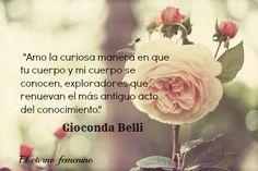 Frase de la sensacional escritora nicaraguense Gioconda Belli.