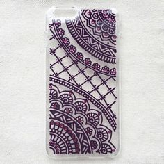 Items similar to iPhone 7 plus Case clear Hand Painted iPhone 6 Case Samsung Galaxy Case LG Note 3 Sony Xperia Case Art Henna Mandala mehndi Hand Drawn on Etsy Henna Phone Case, Diy Phone Case, Iphone 6 Plus Case, Cool Phone Cases, Mandala Doodle, Henna Mandala, Henna Art, Galaxy S5 Case, Samsung Galaxy