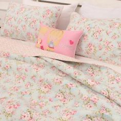 3 PCS Country Cottage Floral Cotton Bedspread Quilt Coverlet Shabby Chic Blue | eBay Coverlet Bedding, Bedspread, Pillow Shams, Shabby Chic Duvet, Shabby Chic Cottage, Blue Duvet, Queen Bedding Sets, Cotton Quilts, Duvet Covers