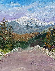Washington from Pear Mountain by Sharon Allen oil plein air ~ 10 x 8