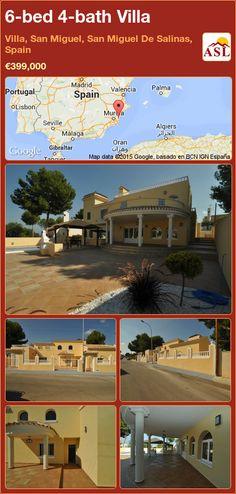 Villa for Sale in Villa, San Miguel, San Miguel De Salinas, Spain with 6 bedrooms, 4 bathrooms - A Spanish Life Valencia, Portugal, Barbecue Area, Resort Villa, Terrace, Swimming Pools, Mansions, Bathroom, Palmas