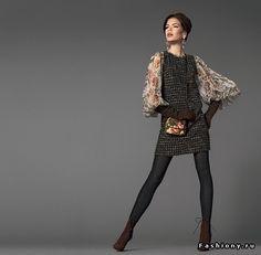 Dolce&Gabbana осень-зима 2012-2013 / черное платье dolce gabbana