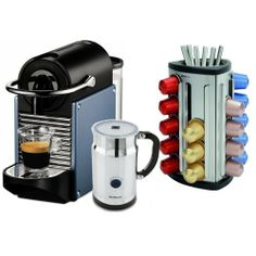 Nespresso D60 Pixie Electric Steel Blue Espresso Machine with Aeroccino Plus Milk Frother and Free 30 Capsule Carousel by Nespresso. $328.00