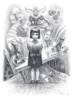 Alice Wonderland Drawings | ... . Alice from Wonderland, drawing by Elvira Yagudina. Image #187076