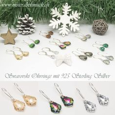 Schmuck Online Shop, Amethyst, Christmas Ornaments, Holiday Decor, Sterling Silver Jewelry, Rhinestones, Christmas Jewelry, Christmas Baubles, Christmas Decorations