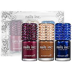 nails inc. - The Crystallized Collection  #SephoraSweeps  11-24-2012 entry  I love these colors!!!