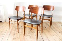 teak Chairs Danish Modern Midcentury Maison Nordik Paris