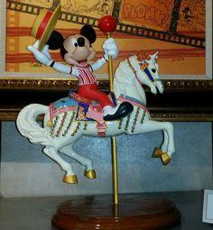 NEW Disney Parks MICKEY & JINGLES CAROUSEL HORSE  Medium Big Fig Figurine FIGURE