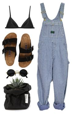 """look"" by lilyaraluen ❤ liked on Polyvore featuring Matteau, Birkenstock and Uashmama"