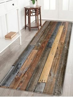 Joint Wood Board Pattern Floor Area Rug
