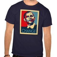 Obama Change Tee T Shirt, Hoodie Sweatshirt