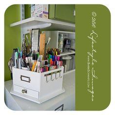 #papercraft #crafting supplies storage #organization