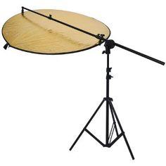 """Neewer® Kit de Reflector de Estudio Fotográfico, incluyendo: (1) 43""""/ 110cm 5-en-1 Reflector de luz multi-disco plegable+(1)recipiente de agarre corchete soporte de relector con cabezaz giratoria+(1) 6 pies/75"""" 190cm soporte de luz fotográfica de Neewer Precio:EUR 33,00  Precio final del producto"""