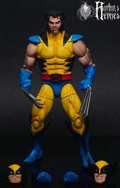 Marvel Legends Custom 90's X-MEN Jim Lee WOLVERINE Blue and Yellow | Toys & Hobbies, Action Figures, Comic Book Heroes | eBay!