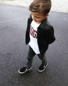 Love him ♡ kids fashion ♡ boys fashion ♡ toddler fashion ♡ zara kids ♡ mango kids ♡ cool ♡leather jacket