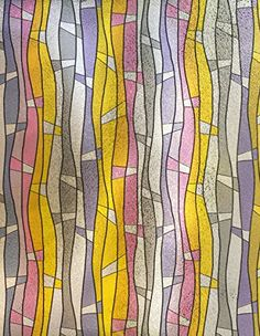 36 x 60 Church Stained Stripes Stained Glass Window Film Static Cling Film With Transparency 3D Effect Design color Frosted Privacy UV Filtering Tinted Embossed Effect Crystal Energy Saving -- Home decor details can be found by clicking on the image.