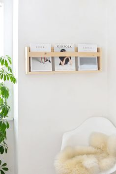 DIY | wooden magazine holder /burkatron/