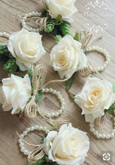 Ivory pink bouquet corsage by MissHanaFloralDesign - Our Wedding 2019 - Trendy Wedding, Diy Wedding, Rustic Wedding, Wedding Country, Wedding Vintage, Wedding Ideas, Rose Corsage, Corsage And Boutonniere, Wedding Colors