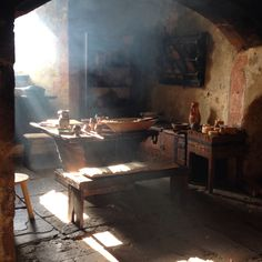 Ronneburg Castle, Germany, but it looks like the kitchen in Corbenic where Guinevere and Galen talk in book 1.