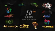 Minimal Ink&fire Logo/Title Reveals Package  • After Effects Template • See it in action ➝ https://videohive.net/item/minimal-inkfire-logotitle-reveals-package/12131344?ref=pxcr