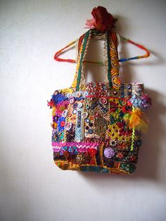Bohemian Vintage Patchwork Tote bag by ApricotCircus on Etsy, $208.00