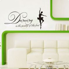 Vinyl Wall Decals Designs Dancing Is The Potery Removable Vinyl Wall Stickers Home Decor Wall Art Decals Girls Wall Stickers, 3d Wall Decals, Wall Stickers Home Decor, Vinyl Wall Stickers, Home Decor Wall Art, All Wall, Girl Dancing, How To Remove, Design