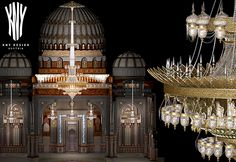 Grand Mosque Lighting Swarovski, Grand Mosque, Led, Chandeliers, Islamic, Ceiling Lights, Crystals, Lighting, Design