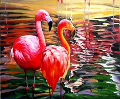 Pink Flamingos...Daniel Wall