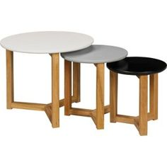 these are quite cool  Buy Hygena Round Coloured Nest of 3 Tables - Multicoloured at Argos.co.uk - Your Online Shop for Nest of tables.